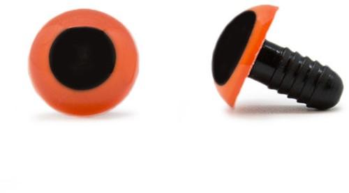 Safety Eyes Orange 15mm per pair