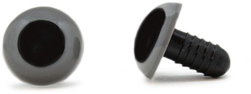 Safety Eyes Grey 15mm per pair