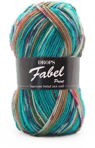 Drops Fabel Print 162 Blue-sea