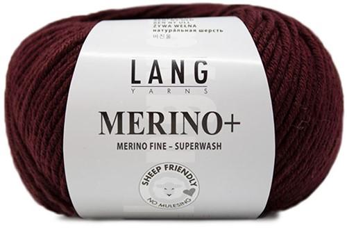 Lang Yarns Merino+ 164 Bordeaux