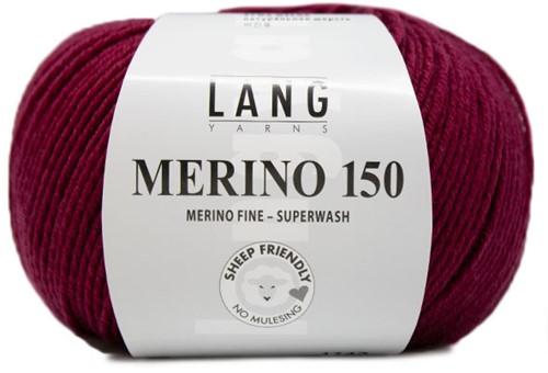 Lang Yarns Merino 150 166 Berry