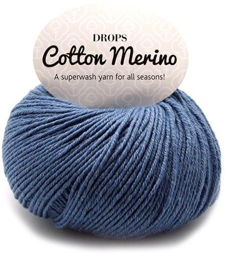 Drops Cotton Merino Uni Colour 16 Denimblauw
