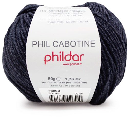 Phildar Phil Cabotine 1410 Indigo