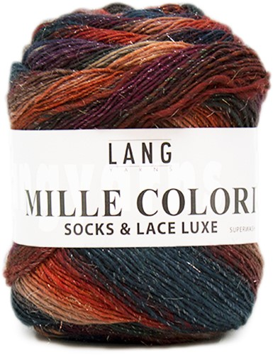 Lang Yarns Mille Colori Socks & Lace Luxe 16 Green/Blue/Red