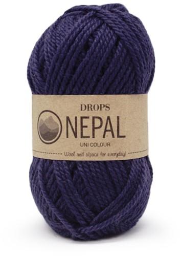 Drops Nepal Uni Colour 1709 Navy Blue