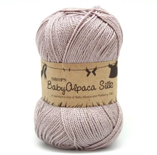 Drops BabyAlpaca Silk Uni Colour 1760 Light-grey-purple