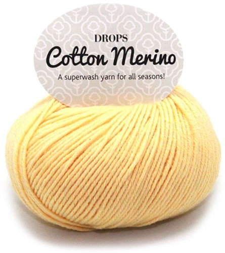 Drops Cotton Merino Uni Colour 17 Vanilla