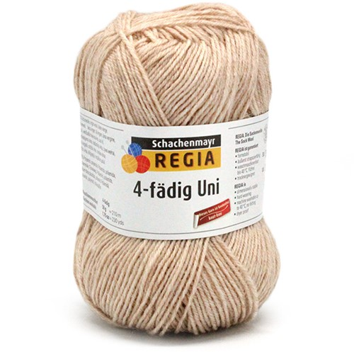 SMC Regia Uni 4-ply 17 Light Camel Melange
