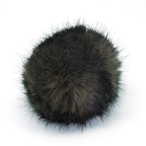 Rico Fake Fur Pompon Medium 4 Dark Brown