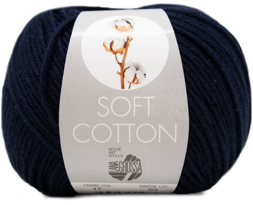 NEW - Lana Grossa Soft Cotton 017 Night Blue