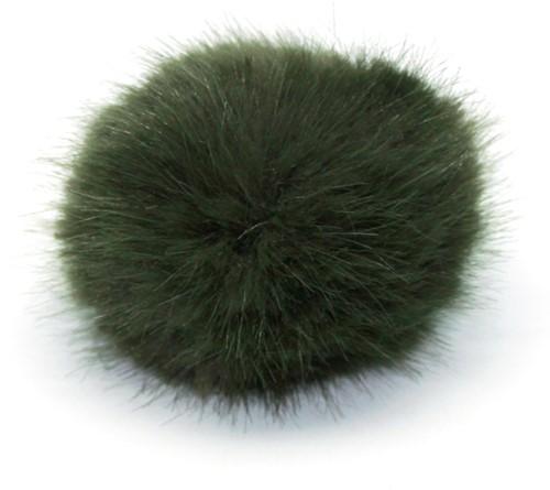 Rico Fake Fur Pompon Medium 18 Olive
