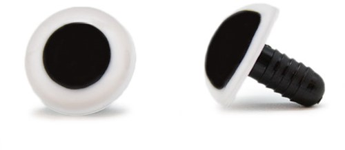 Safety Eyes White 18mm per pair