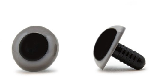 Safety Eyes Grey 10mm per pair