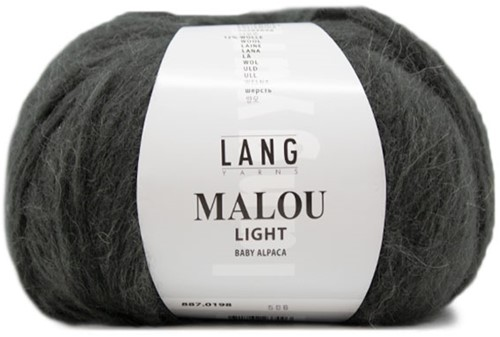 Lang Yarns Malou Light 198 Dark Olive