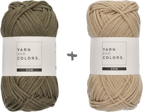 Yarn and Colors Boho Blanket Crochet Kit 090 Olive
