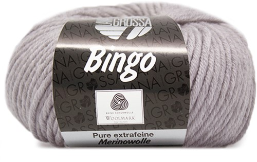 Lana Grossa Bingo 1 Light Grey Mottled