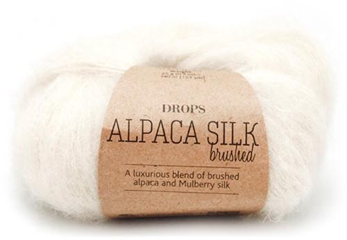 Drops Brushed Alpaca Silk Uni Colour 01 Off-white