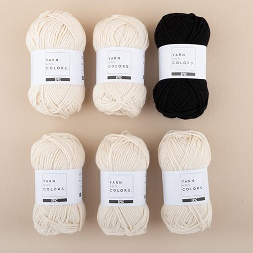 Yarn and Colors Striped Jumper Knit Knit 5 M Black
