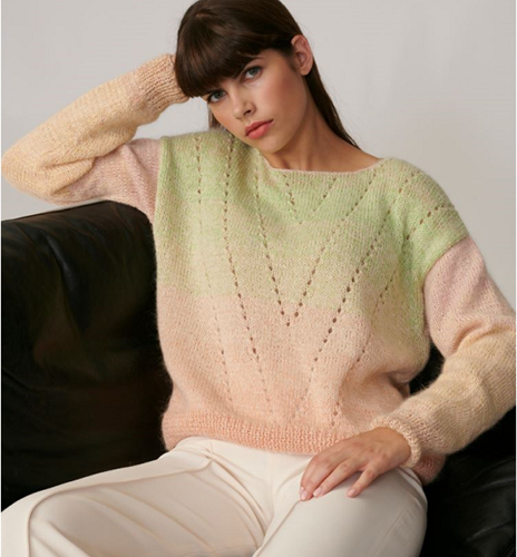 Knitting Pattern Creative Cotton Dégradé Lucky 8 Sweater