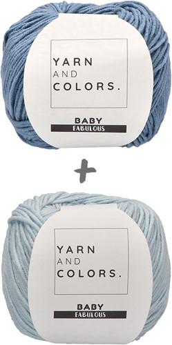 Baby Blanket Fabulous Gradient Crochet Kit 2 Blue