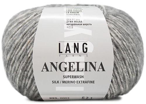 Angelina Scarf Knit Kit 2 Light Grey