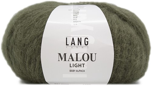 Malou Light Eyelet Sweater Knit Kit 1 L Olive