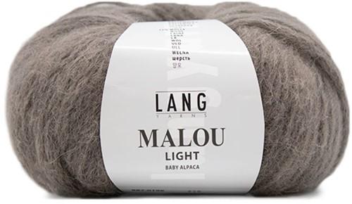 Malou Light Eyelet Sweater Knit Kit 2 XL Stone