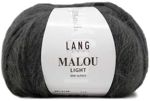 Malou Light Long Cardigan Knit Kit 1 XL Dark Olive