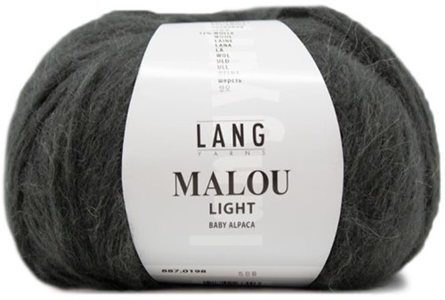 Malou Light Long Cardigan Knit Kit 1 L Dark Olive