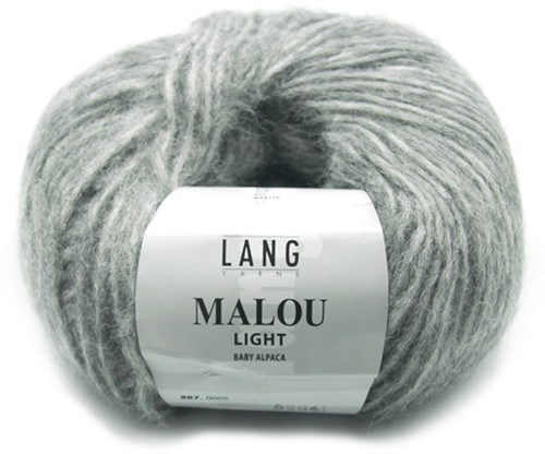 Malou Light Long Cardigan Knit Kit 2 L Grey