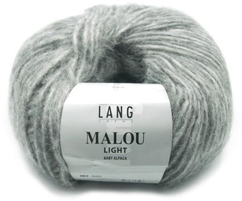 Malou Light Long Cardigan Knit Kit 2 S Grey