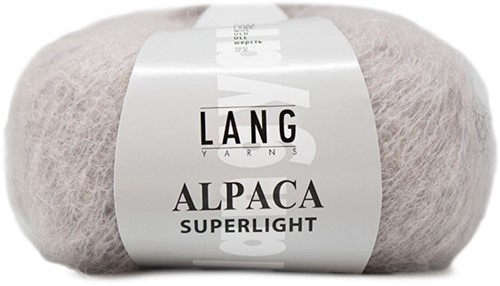 Alpaca Superlight Sweater Knit Kit 2 L/XL Light Grey