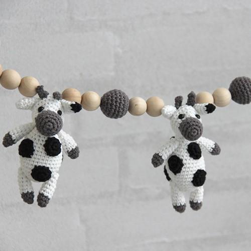 Go Handmade Baby Garland and Teether Cow Crochet Kit