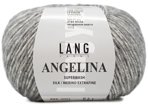 Angelina Garter Sweater Knit Kit 2 L Light Grey