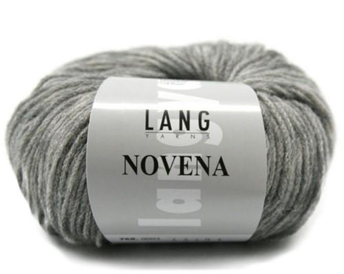 Novena Cable Cardigan Knit Kit 2 L Light Grey