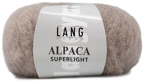 Alpaca Superlight Eyelet Cardigan Knit Kit 1 M/L Beige