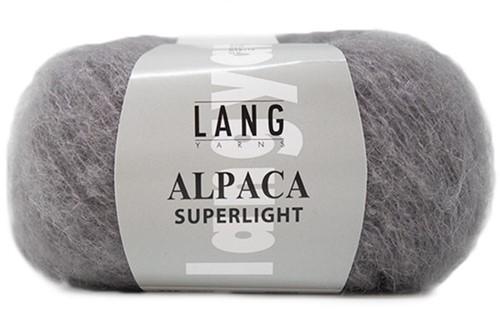Alpaca Superlight Eyelet Cardigan Knit Kit 2 XL Grey