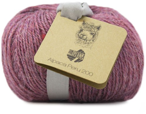 Lana Grossa Alpaca Peru 200 202 Grey-Red