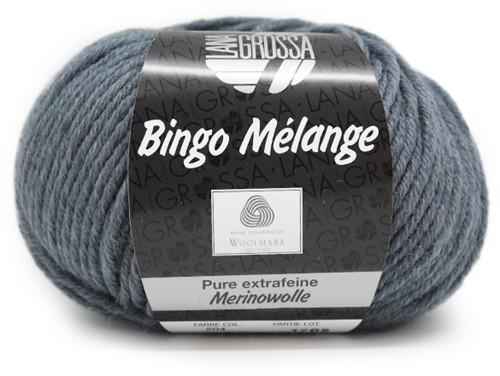 Lana Grossa Bingo Melange 204 Grey-Blue Mottled