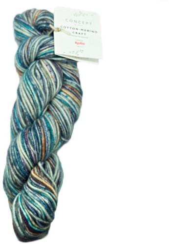 Katia Cotton Merino Craft 204 Blue / Lila / Orange