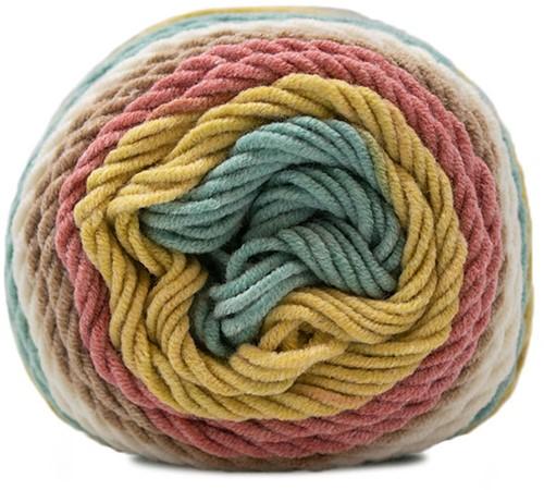 Delicious Striped Cushion Knitting Kit 4 Grapefruit Basil Sorbet