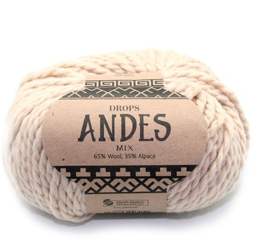 Drops Andes Mix 206 Light Beige