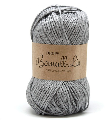 Drops Bomull-Lin Uni Colour 20 Grey-blue