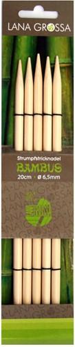 Lana Grossa 20cm Bambus Double Pointed Needles 6mm