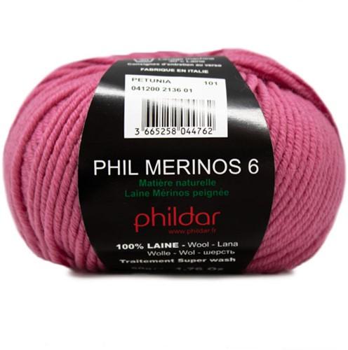 Phildar Phil Merinos 6 2136 Petunia