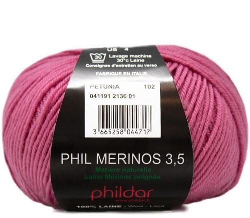 Phildar Phil Merinos 3.5 2136 Petunia