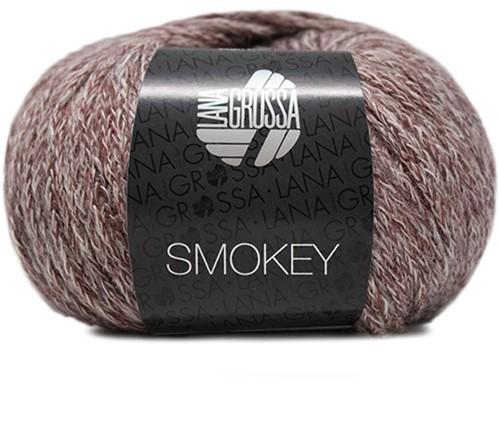 Lana Grossa Smokey 214 Burgundian / Grey-Beige