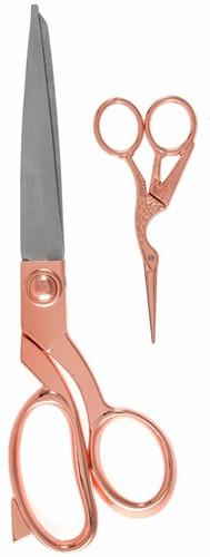 Milward Set Fabric Scissors (25,5cm) & Embroidery Scissors (11.5cm) Rosé