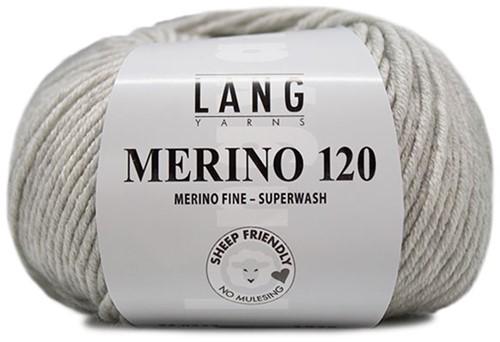 Lang Yarns Merino 120 223 Light Grey Mélange