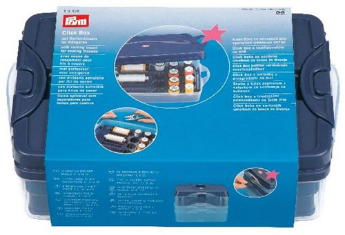 Prym Click Box with sorting insert for sewing thread (plastic)